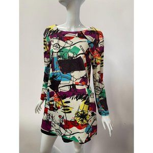 Abstract Pattern Plus Sized Top